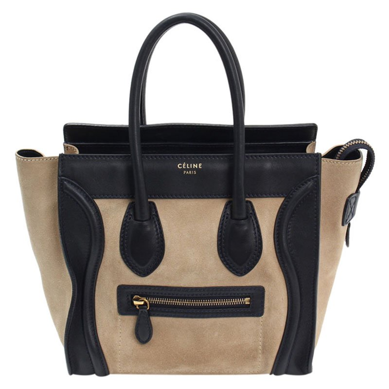 aa90a837428f ... Celine Bicolor Suede and Leather Mini Luggage Tote Bag. nextprev.  prevnext