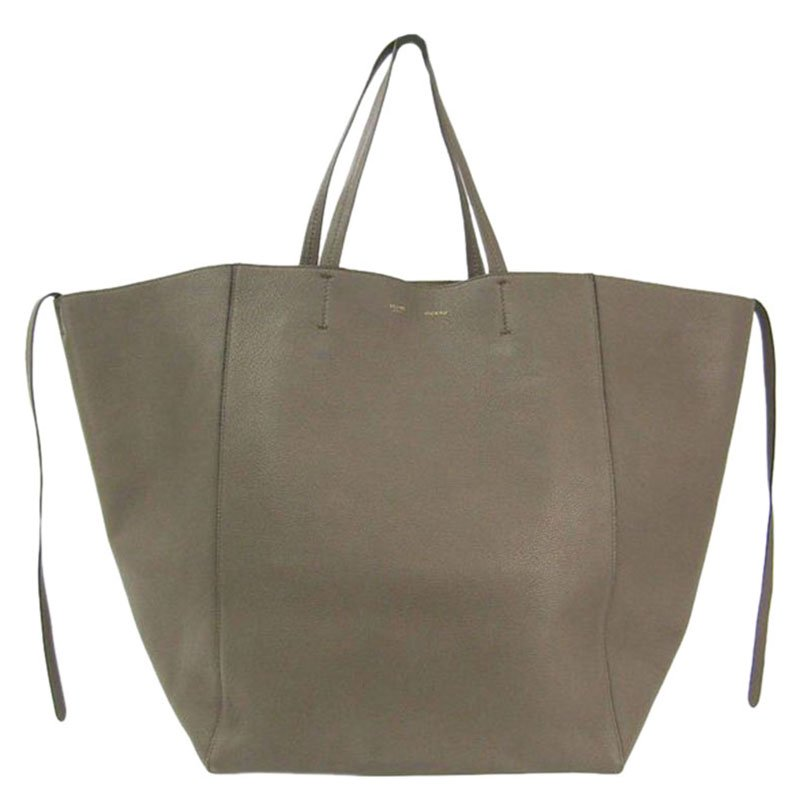 Buy Celine Taupe Calfskin Leather Large Cabas Phantom Tote 87395 at best  price  3b249f7c46e2a
