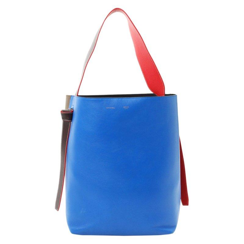 ec3e8787af57 Buy Celine Tri Color Leather Twisted Cabas Tote 95555 at best price ...