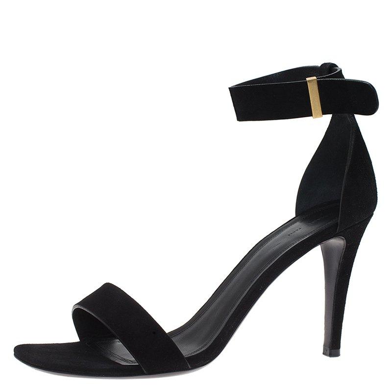 7ca3502e26dfa ... Celine Black Suede Ankle Strap Sandals Size 40. nextprev. prevnext