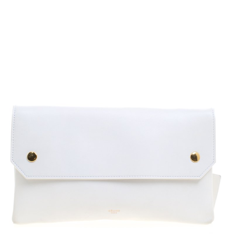 1741b695b2ab Buy Celine White Leather Bum Waist Bag 107689 at best price