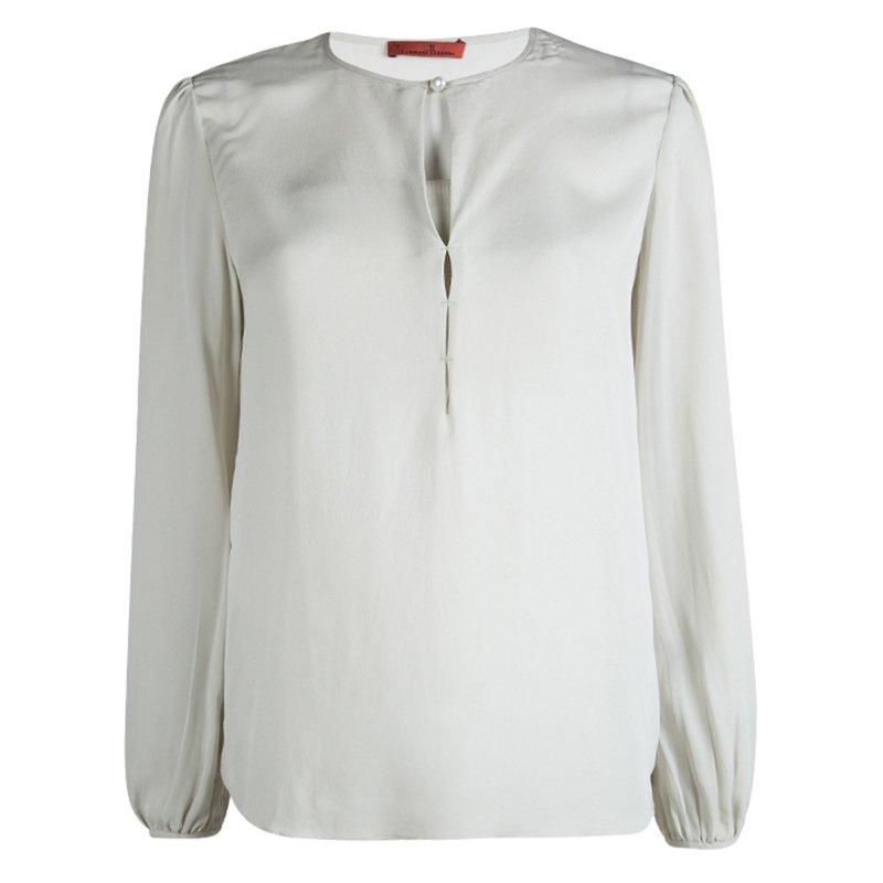 9965231eec09d ... CH Carolina Herrera Grey Silk Long Sleeve Top L. nextprev. prevnext