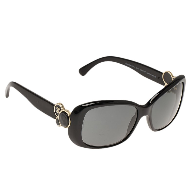05c0460fd211be ... Chanel Collection Bouton Black 5191 CC Embellished Sunglasses.  nextprev. prevnext
