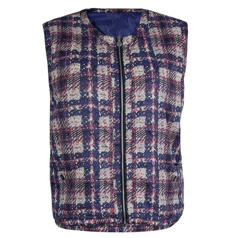 Chanel Printed Nylon Sleeveless Reversible Jacket L