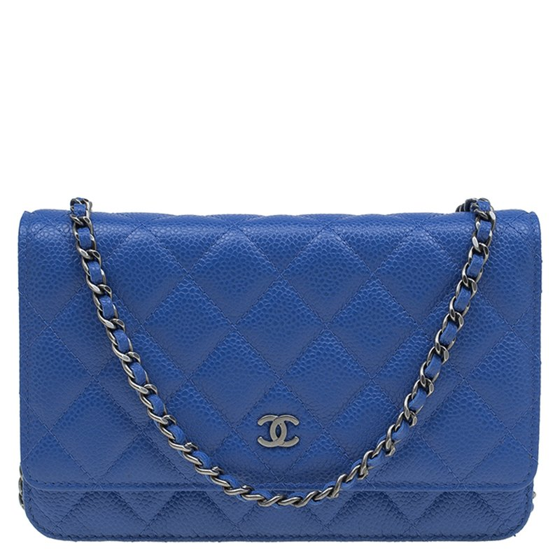 c0d46aabf83f Buy Chanel Blue Quilted Caviar Leather WOC Clutch Bag 81491 at best ...