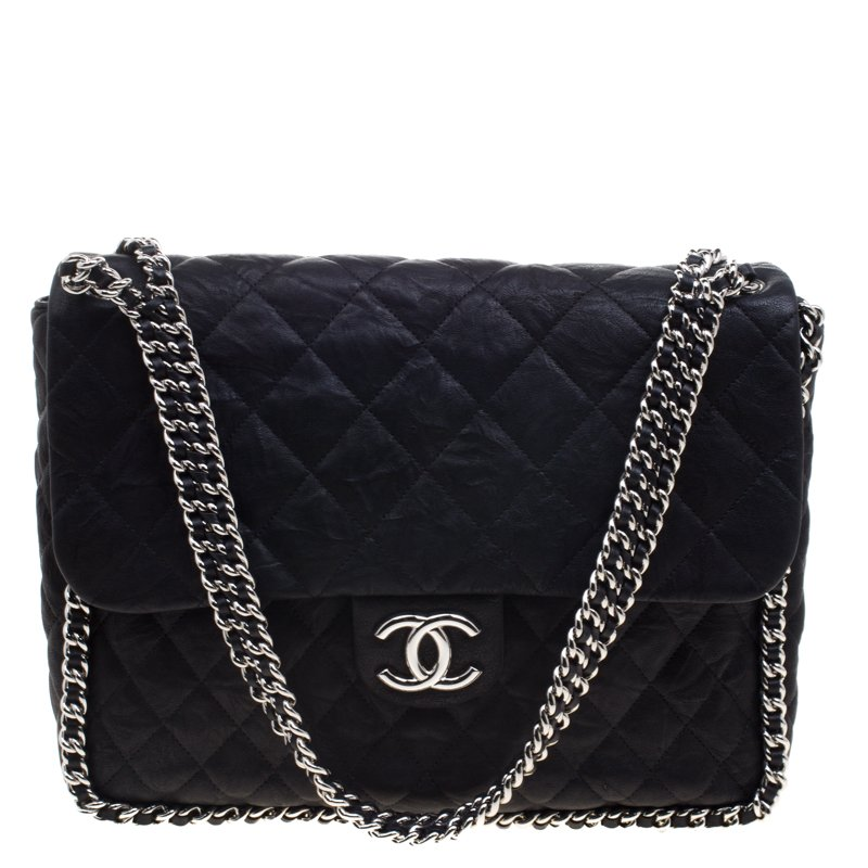 835052b2d93466 ... Chanel Black Quilted Aged Calfskin Leather Maxi Single Flap Bag.  nextprev. prevnext