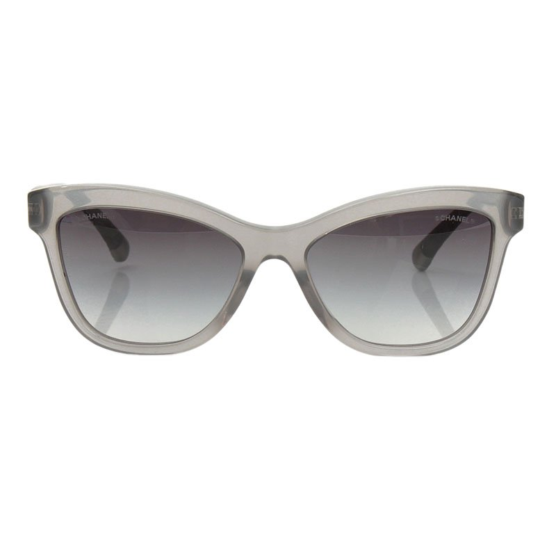 80cc1aea34 Buy Chanel Grey 5330 Quilted Cat Eye Sunglasses 107638 at best price ...