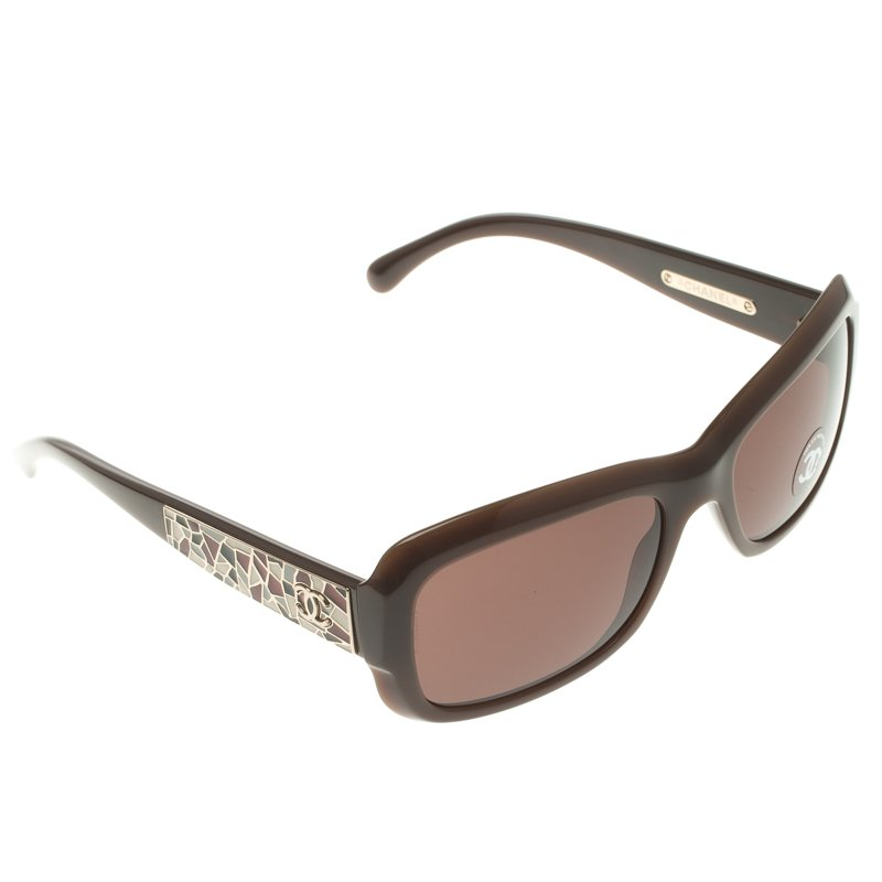 165abbcbfd Buy Chanel Brown 5223 Square Sunglasses 108113 at best price