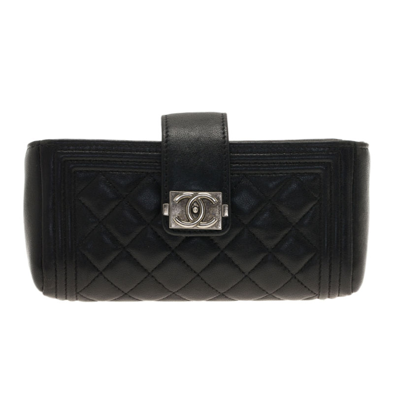f448b0e6e9fe Buy Chanel Black Lambskin Phone Pouch 39312 at best price | TLC