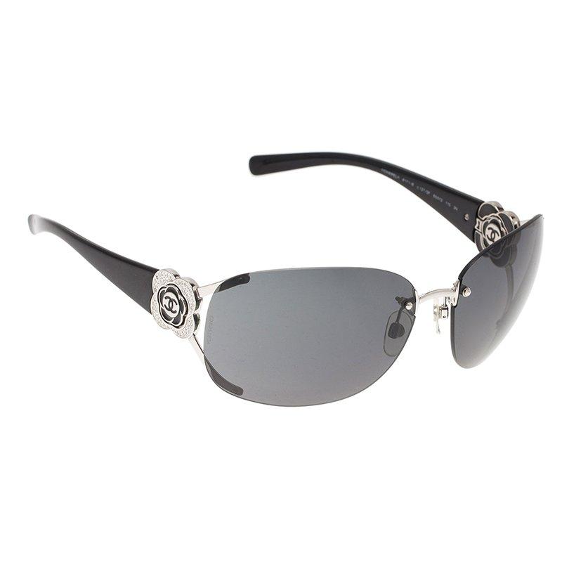 3530d82640 ... Chanel Black Camellia 4171 Rimless Shield Sunglasses. nextprev. prevnext