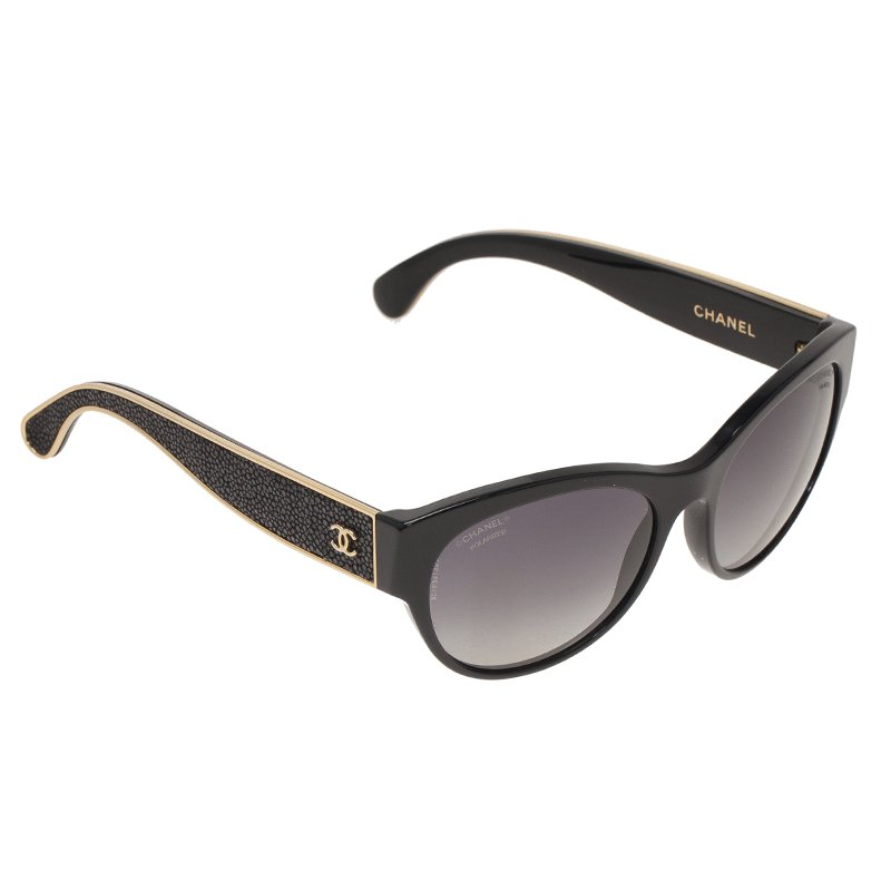 236eeda849 Buy Chanel Black 5273Q Oval Stingray Sunglasses 47316 at best price ...
