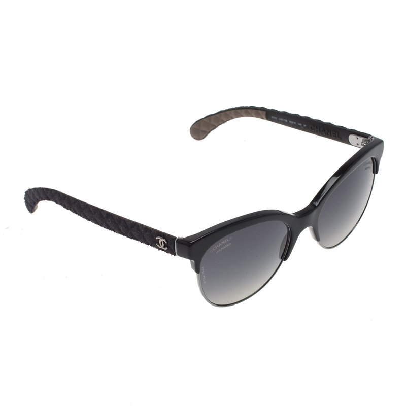 cd2f708265c7 ... Chanel Black Pantos Quilted Cat Eye Polarized Sunglasses. nextprev.  prevnext