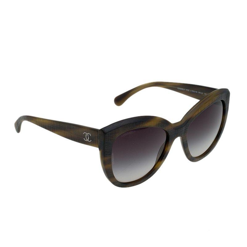 d3227563d8 ... Chanel Striped Brown 5332 1535S 6 Cat Eye Sunglasses. nextprev. prevnext