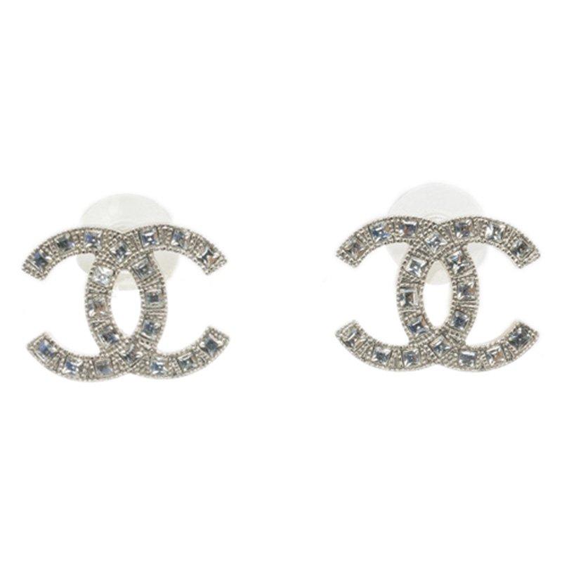 b2577e33d495de Buy Chanel CC Crystal Medium Stud Earrings 90664 at best price   TLC