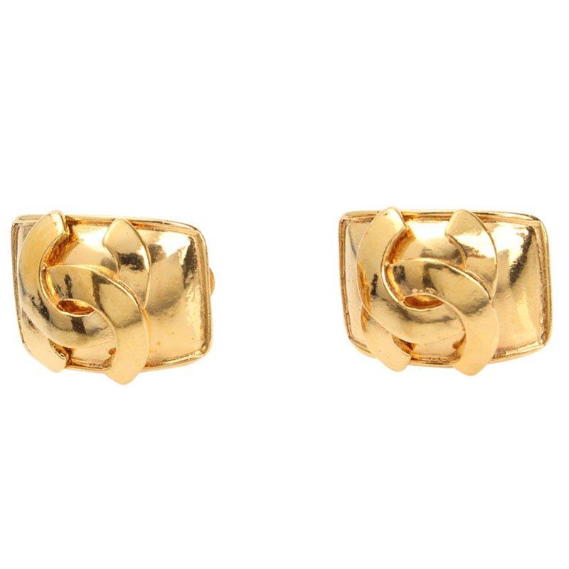 0ee590bc0bce ... Chanel Vintage CC Logo Gold-Tone Clip On Stud Earrings. nextprev.  prevnext