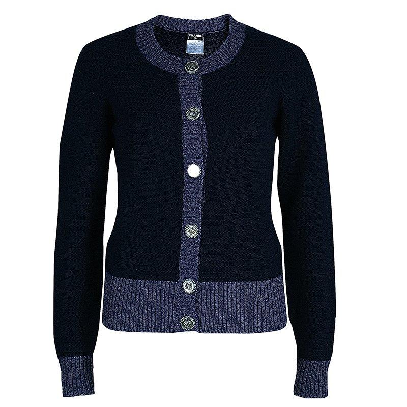 f593624533c Buy Chanel Navy Blue Cardigan M 45418 at best price