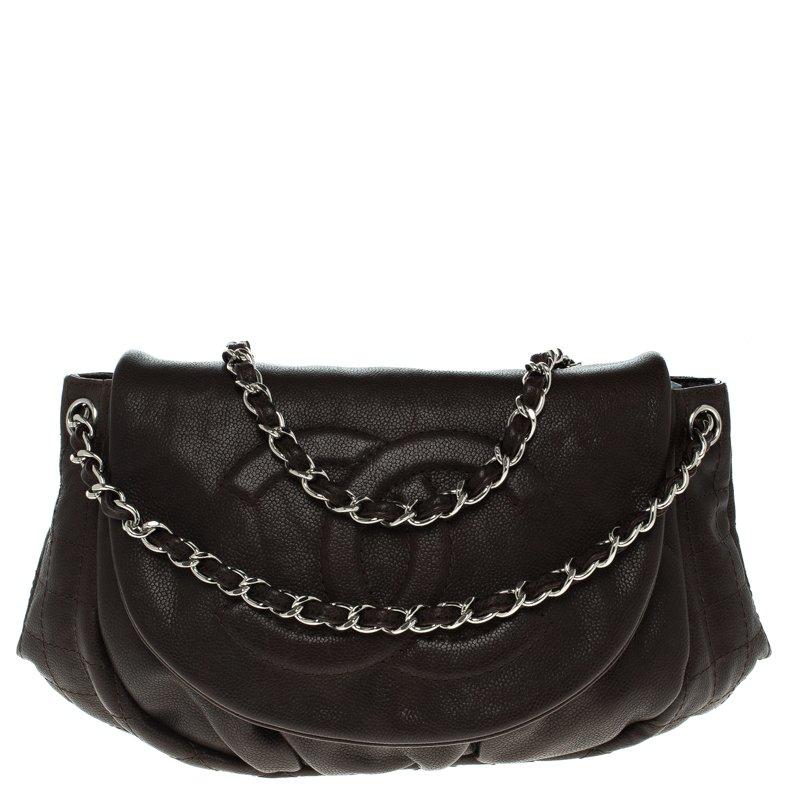 ... Chanel Dark Brown Quilted Caviar Leather Half Moon Shoulder Bag.  nextprev. prevnext 211e7075e5