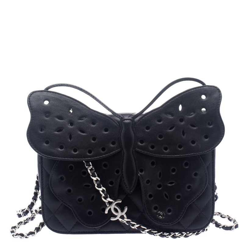 ... Chanel Black Quilted Leather Mini Butterfly Crossbody Bag. nextprev.  prevnext 2df21457ef149