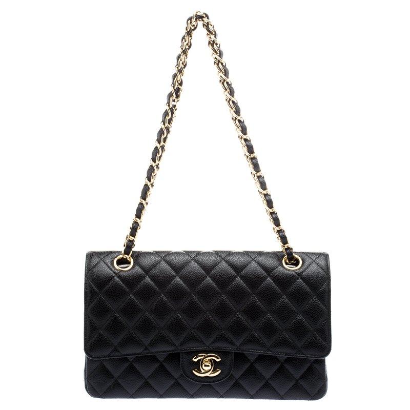 216fd3020581 ... Chanel Black Quilted Caviar Leather Medium Classic Double Flap Bag.  nextprev. prevnext