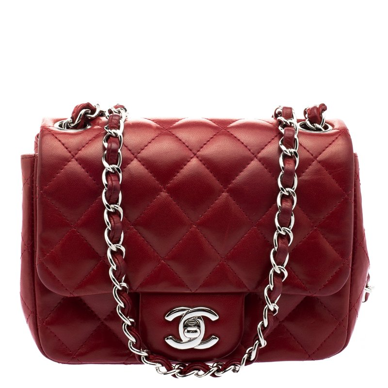 1d9dd53e5367 ... Chanel Red Quilted Leather Mini Square Classic Flap Bag. nextprev.  prevnext
