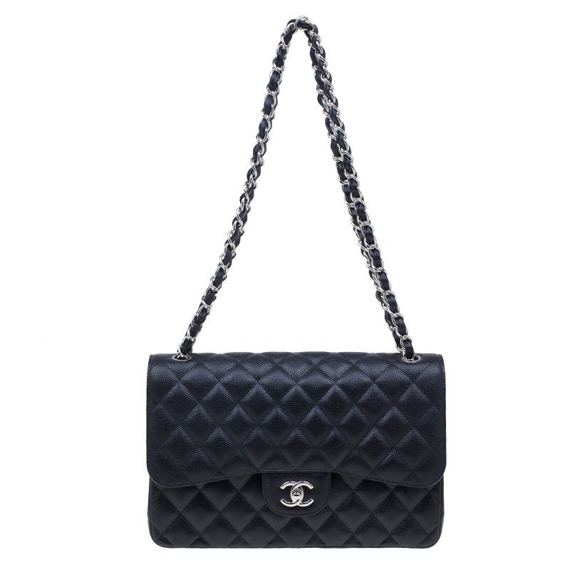 c969a5b51c54 ... Chanel Black Quilted Caviar Leather Large Classic Double Flap Bag.  nextprev. prevnext