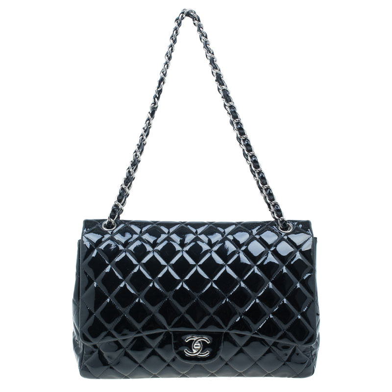 46df5cc629df ... Chanel Black Quilted Patent Leather Maxi Classic Single Flap Bag.  nextprev. prevnext
