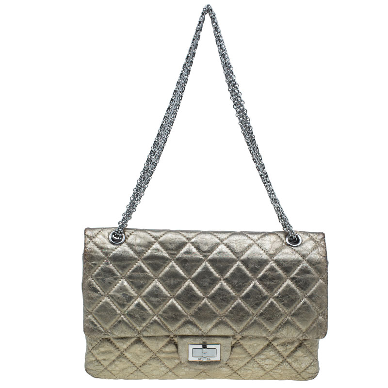 c38778508443 ... Chanel Metallic Gold Quilted Calfskin Leather Jumbo 2.55 Reissue  Classic 227 Flap Bag. nextprev. prevnext