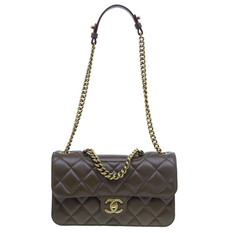 a727ce7428bc5e ... Chanel Brown Quilted Calfskin Leather Small Perfect Edge Flap Bag.  nextprev. prevnext