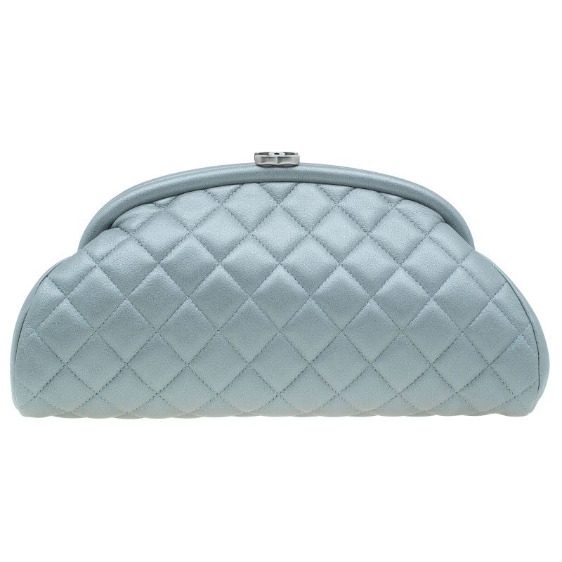 588e04c5ef31 Buy Chanel Grey Quilted Leather Timeless Clutch 40948 at best price ...