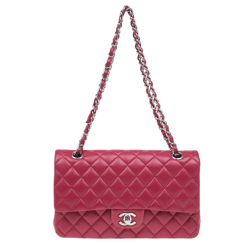 f1af659d2689 ... Bag Nextprev Prevnext. Chanel Red Quilted Lambskin Leather Medium Clic Double  Flap