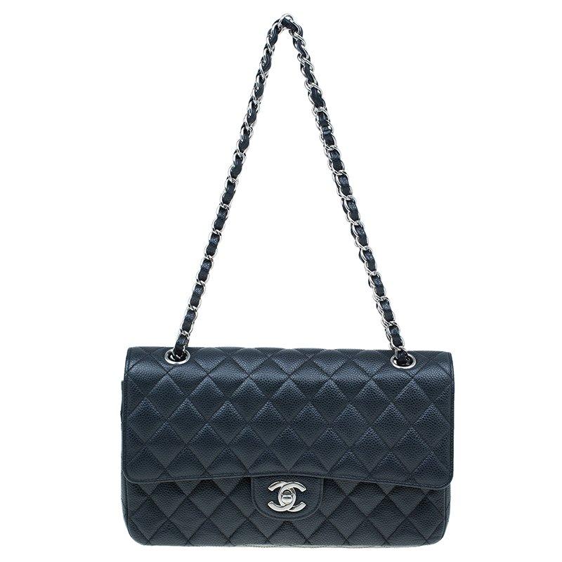 d1d8a8a98e6df6 Buy Chanel Black Caviar Leather Medium Classic Double Flap Bag 41515 ...