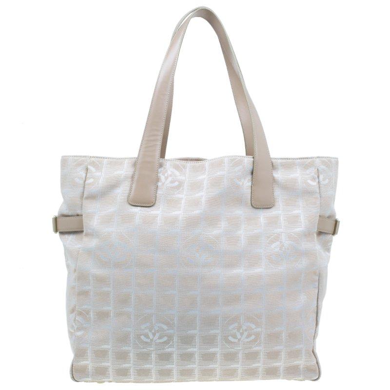 ad3685e1a6c3 ... Chanel Beige Nylon Large Travel Ligne Tote Bag. nextprev. prevnext