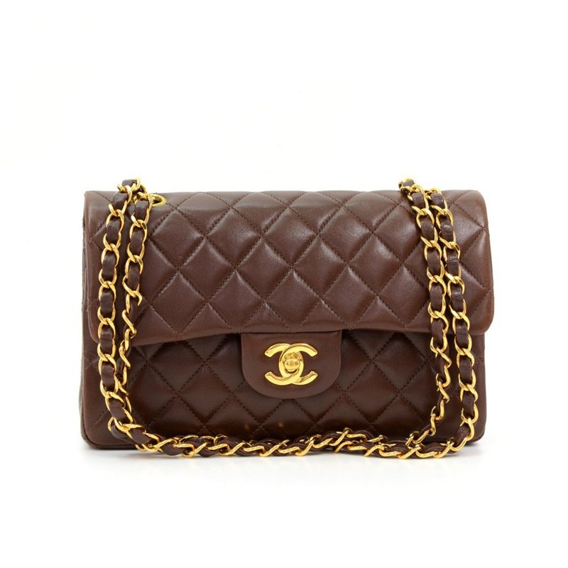 Buy Chanel Chocolate Brown Quilted Lambskin 2.55 Double Flap ... f6a0a3f35d
