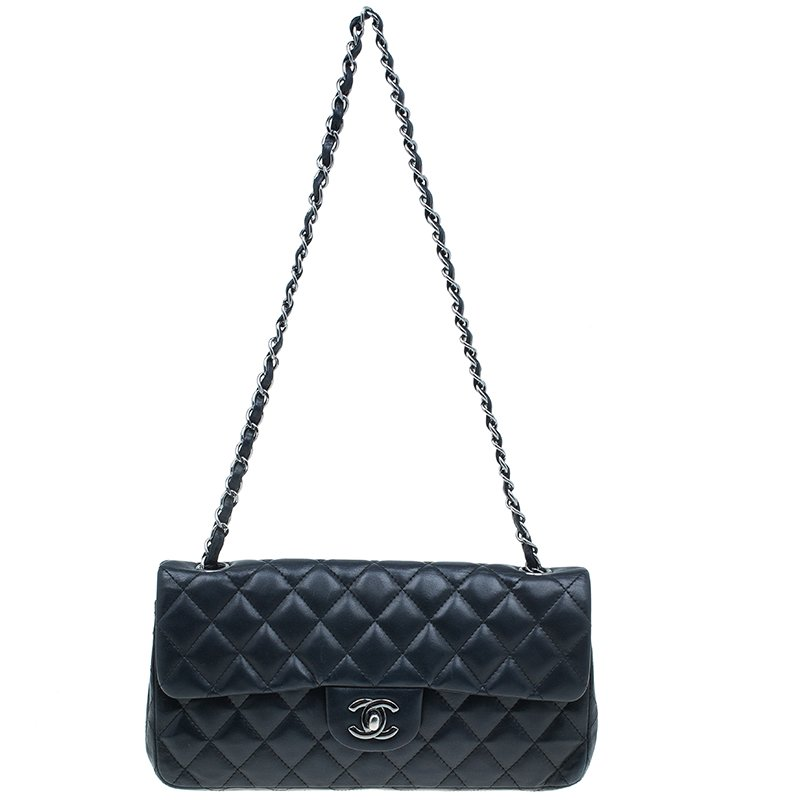 29a5316b45e5 ... Chanel Black Quilted Lambskin East West Flap Bag. nextprev. prevnext