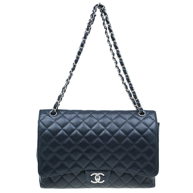b8ee108df3a6 ... Chanel Black Caviar Leather Classic Maxi Double Flap Bag. nextprev. prev next