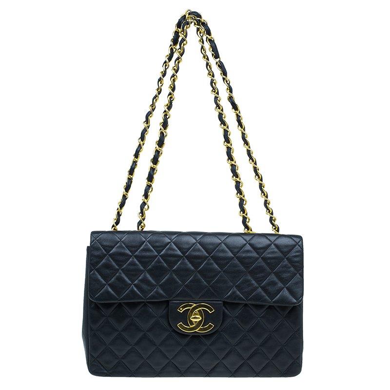 9d38294e30767 ... Chanel Black Quilted Lambskin Maxi Vintage Classic Single Flap Bag.  nextprev. prevnext