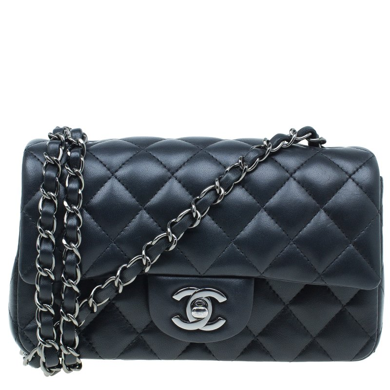 7778c3cd4db2c5 ... Chanel Black Quilted Leather New Mini Classic Single Flap Bag.  nextprev. prevnext