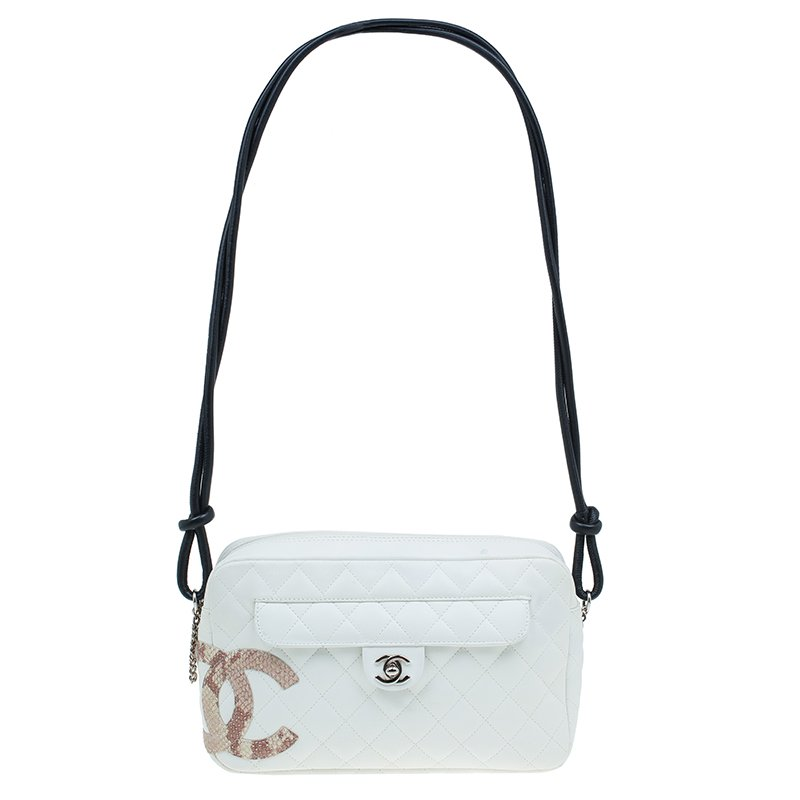 4fc3912dbabb ... Chanel White Quilted Leather Ligne Cambon Camera Shoulder Bag.  nextprev. prevnext