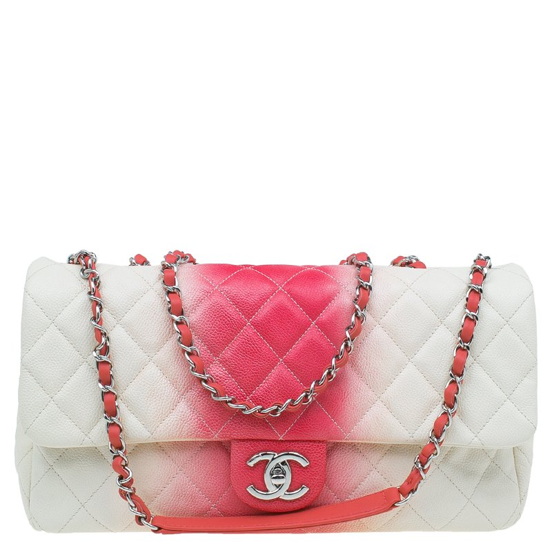 a6d7e1514441 Chanel Boy Shoulder Bag 339416 Collector Square. Prevnext. Chanel White Red  Quilted Caviar Leather Jumbo Ombre Single Flap