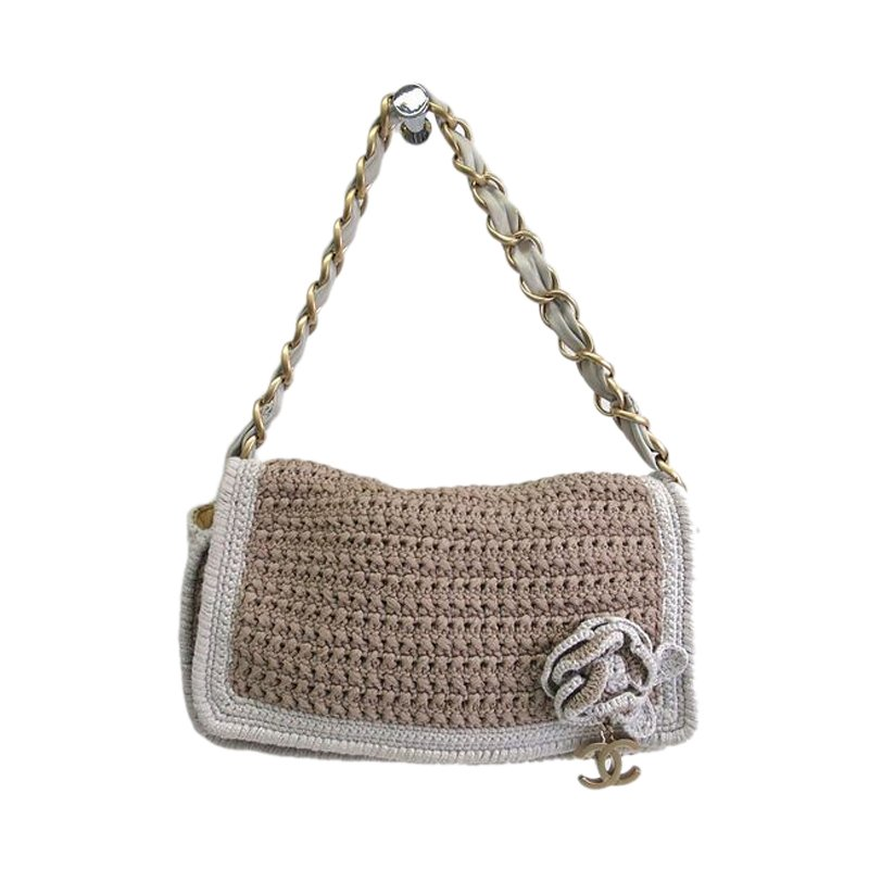 9c840209b13 ... Chanel Brown and White Camellia Wool Knitted Shoulder Bag. nextprev.  prevnext