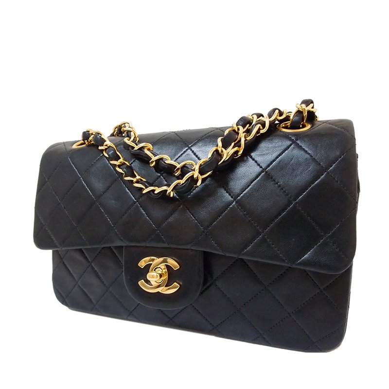 4d92277ea9ac ... Chanel Black Quilted Lambskin Small Classic Double Flap Bag. nextprev.  prevnext