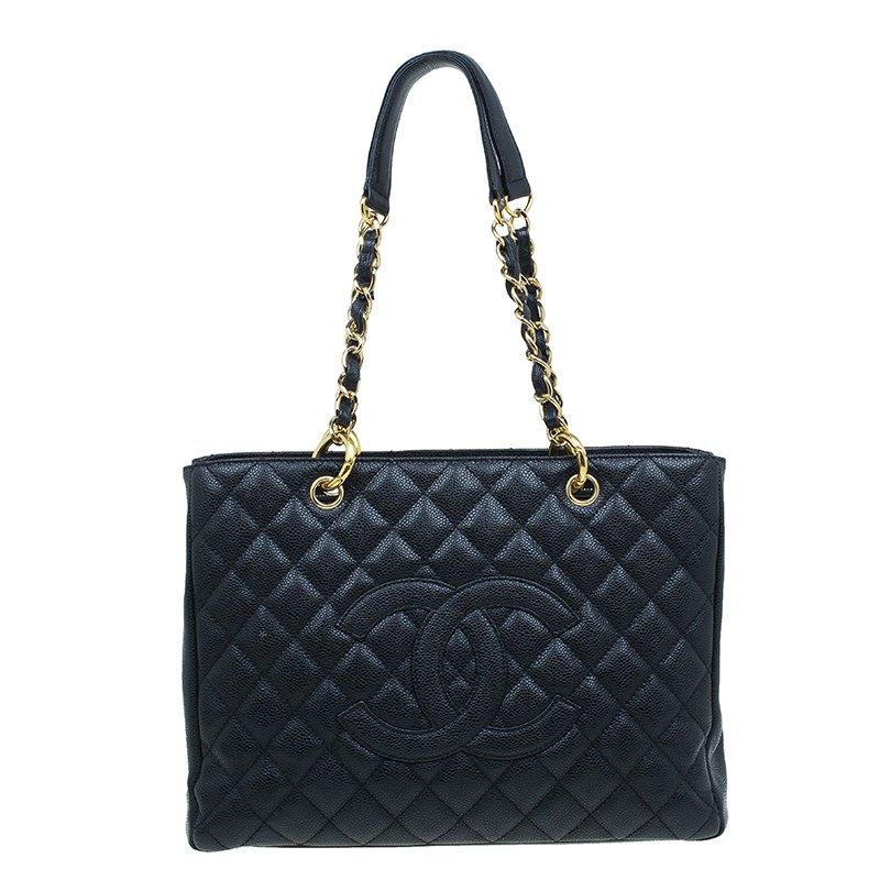 7848475c1b ... Chanel Black Quilted Caviar Leather Grand GST Shopper Tote Bag.  nextprev. prevnext