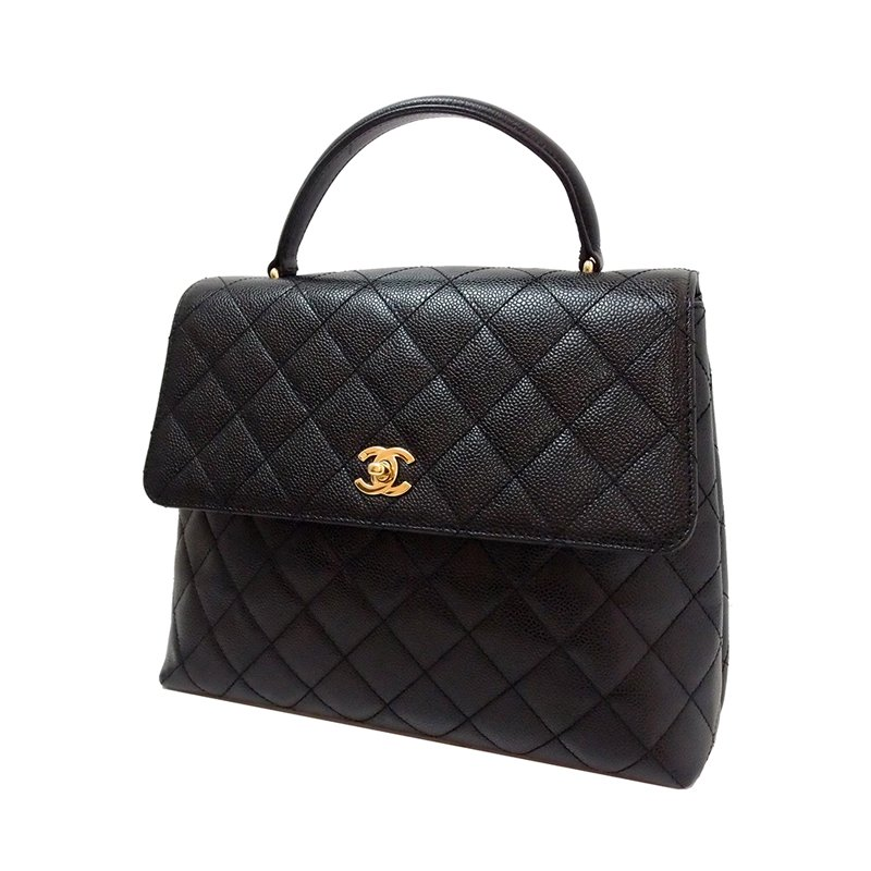6aac23eaa2ea ... Chanel Vintage Black Metalasse Caviar Leather Top Handle Bag. nextprev.  prevnext