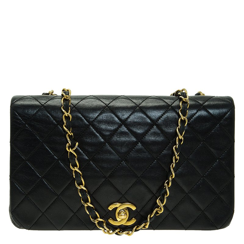 b693f4bc02ed ... Chanel Black Quilted Lambskin Leather Vintage Full Flap Bag. nextprev.  prevnext