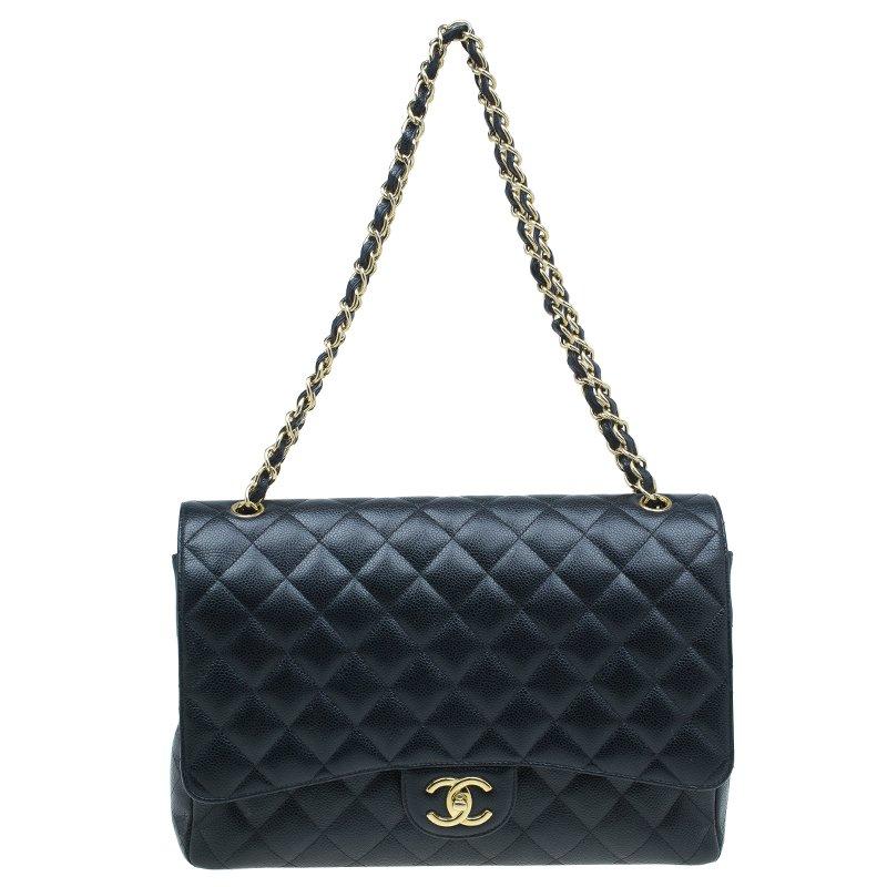 9a4d6074f3d9 ... Chanel Black Quilted Caviar Leather Maxi Classic Double Flap Bag.  nextprev. prevnext