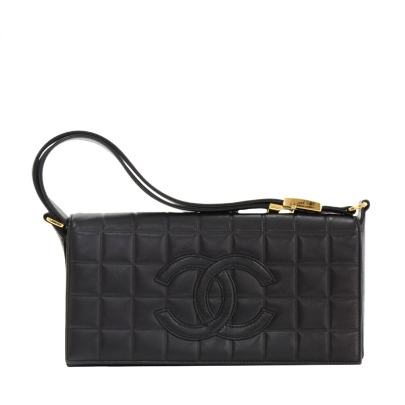 44d37a348722e9 ... Chanel Black Quilted Chocolate Bar Lambskin Leather Shoulder Bag.  nextprev. prevnext