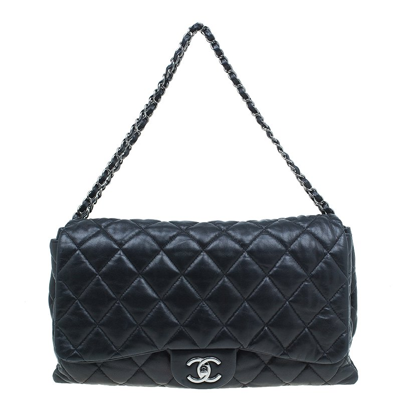 ... Chanel Black Quilted Lambskin Leather Maxi 3 Accordion Flap Bag.  nextprev. prevnext 5832d7e3c4