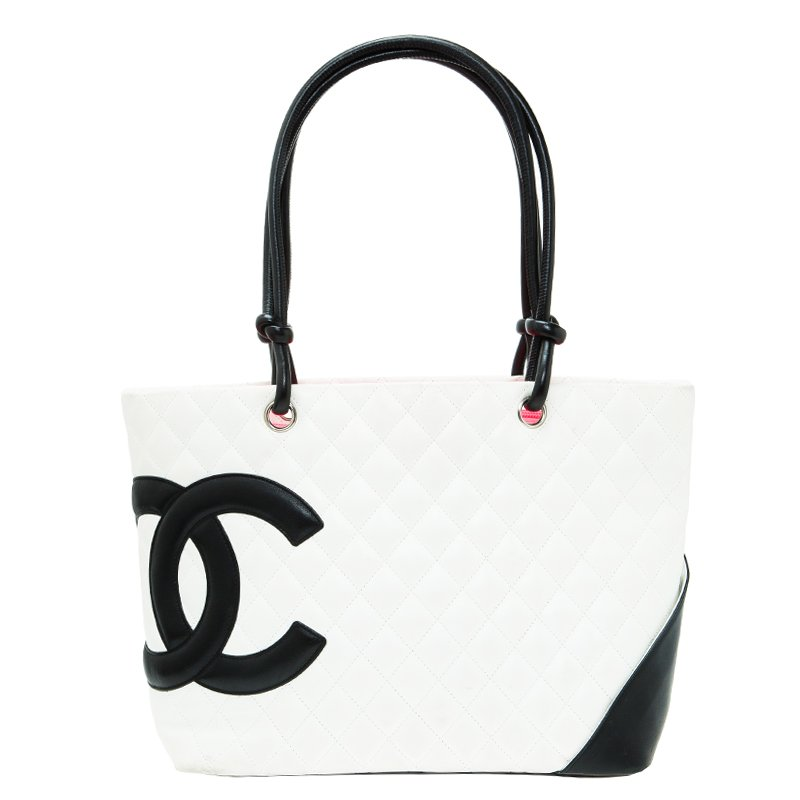 7f8ece4b67 ... Chanel White Quilted Leather Ligne Cambon Large Tote. nextprev. prevnext