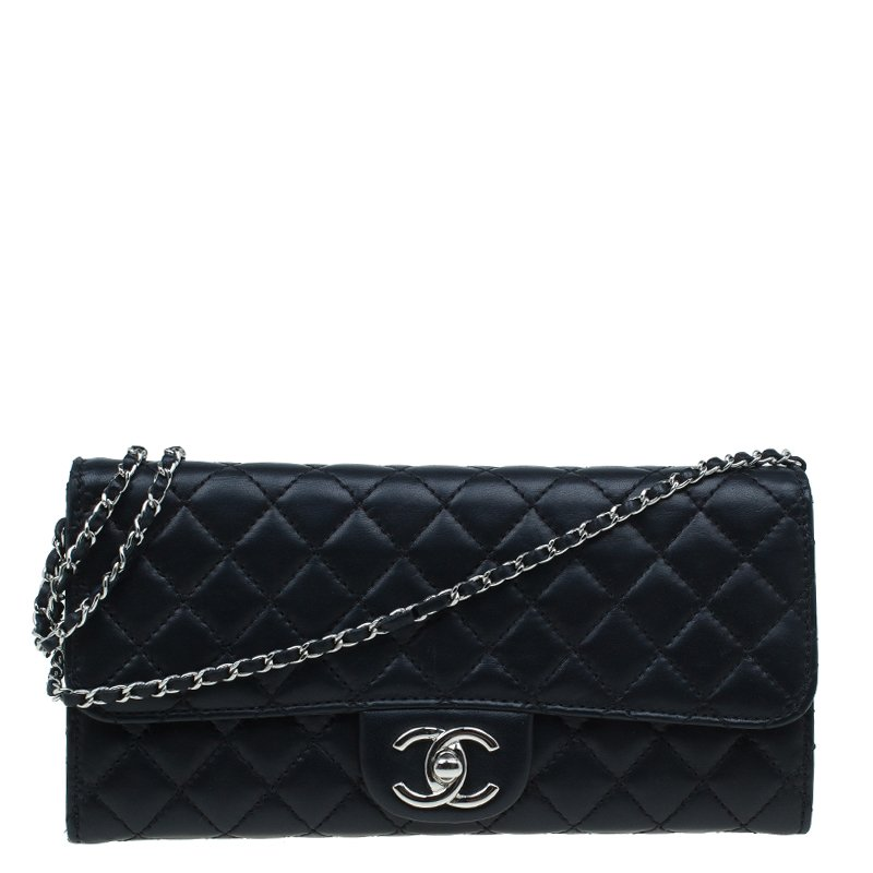 b8e00669b516 ... Chanel Black Quilted Leather East West Flap Clutch. nextprev. prevnext