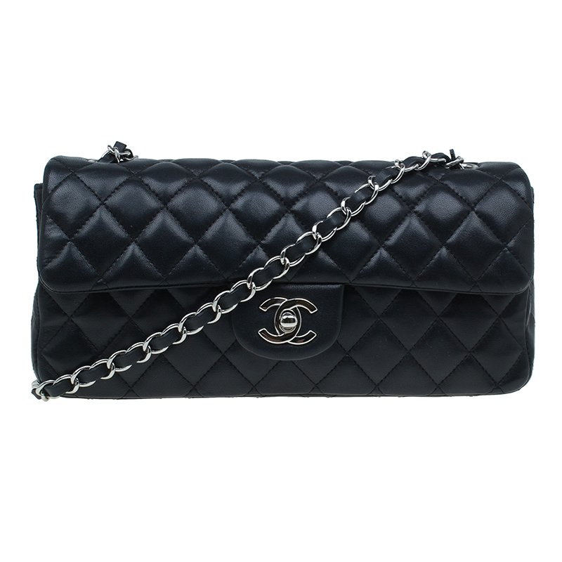 59fc35d2aba8 ... Chanel Black Quilted Lambskin East West Classic Flap Bag. nextprev.  prevnext